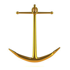 Golden anchor front view