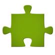 Puzzleteil grün