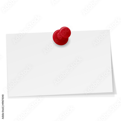 kleiner Notizzettel mit Pin