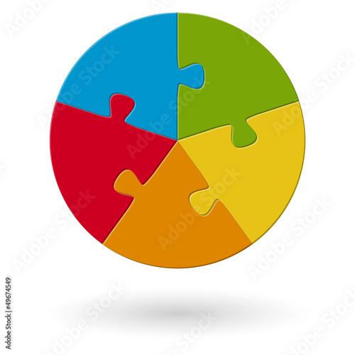 Puzzle - rund - 5 Möglichkeiten