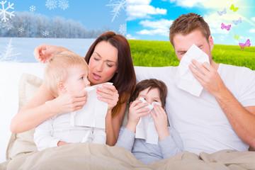 Kranke Familie Wetter Frühling Winter