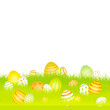 Easter Card Meadow Eggs