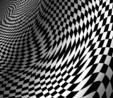 Fototapety abstract wavy chess background