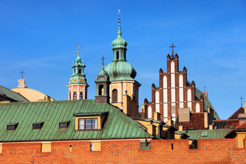 Old Town Skyline in Warsaw