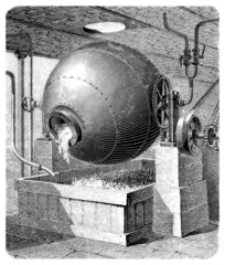 PaperWashing Machine - 19th century