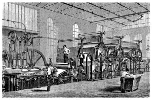 Paper Machine - 19th century