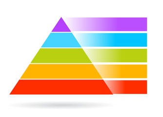 Vector blank pyramid, add your text