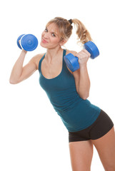 fitness weights woman