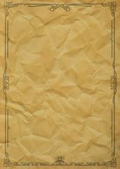 Altes Papier mit Floral Ornament Grunge