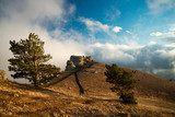 Picturesque landscape of Demerdzhi mountain top, Crimea, Ukraine