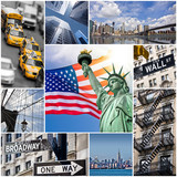 Fototapety Collage carré Manhattan, New York - USAA