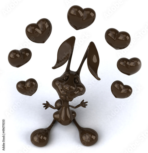 Fun chocolate rabbit