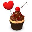 Cupcake Choco Heart