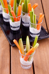 vegetable appetizers with yogurt