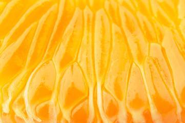 fresh tangerine slices