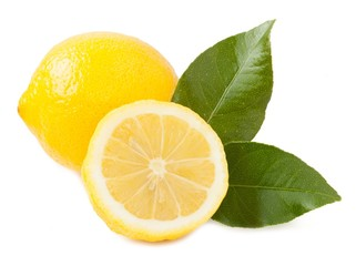 Lemon isolated on white background_III