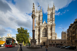 Fototapety Front facade of Westminster Abbey on a sunny day. London, UK