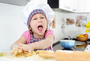 Little angry baker