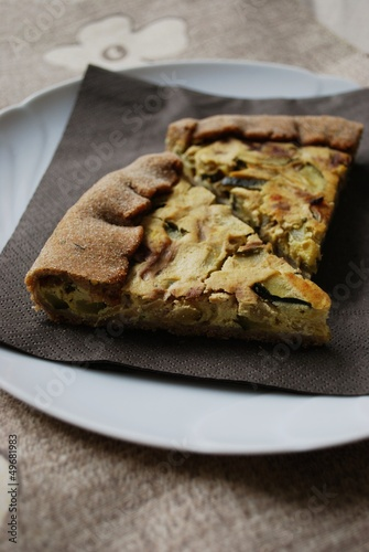 Zucchini and onion tart
