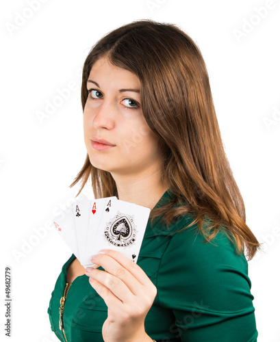 beautiful young girl in casino