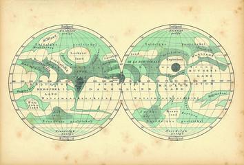 Mars vintage map