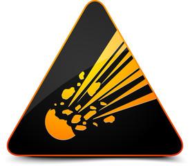 Meteor Hazard Sign