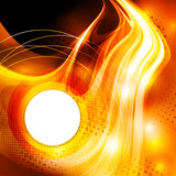 Abstract ardent background with round copy space