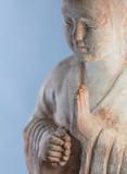 Buddha Mönch - Statue aus Stein