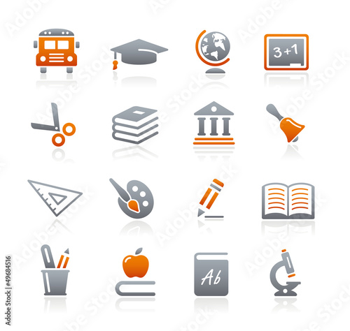 Education Icons // Graphite Series