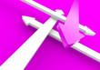 Finde den richtigen Weg - Pink Weiß