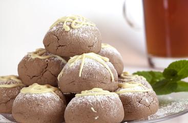 Homemade cookies with white chocolate