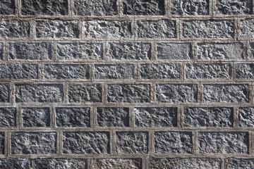 Lava bricks wall in Sicily