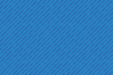 blue seamless diagonal binary code pattern