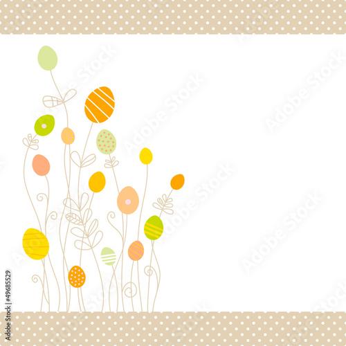 Eggflowers Background Pattern Green/Yellow/Orange Dots