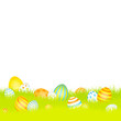 Easter Background Meadow Eggs Blue