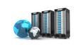 3 Server mit Globus blau