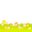 Easter Background Meadow Eggs Purple