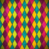 Colorful rhombus grunge background