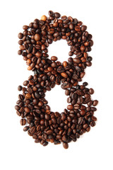 8 - number from coffee beans