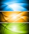 Wavy vector banners design