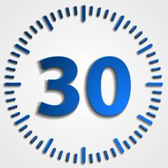 30 minutes button
