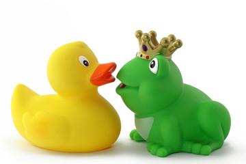 ente und frosch