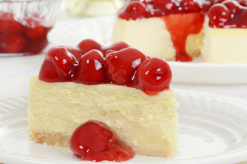 Macro cherry cheesecake