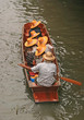 Boat Ride at Damnoen Saduak Floating Market of Thailand