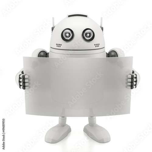Robot with blank board
