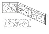 Vector wrought iron modular railings and fences poster