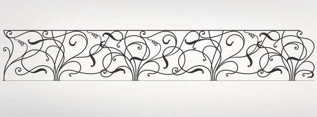 Vector wrought iron modular railing