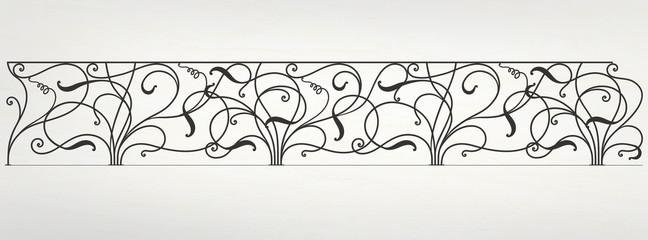 Vector wrought iron modular railing