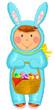 kid wearing Easter costume
