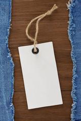 blue jean on wood  background